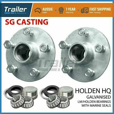 Holden Hq Galvanised Boat Trailer Hubs With Holden Lm Bearings & Marine Seals