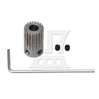 1.1x1.8cm 20T Stainless Steel Gear Wheel 5mm Hole with Wrench & Screws Silver