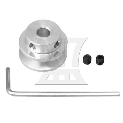 6mm Hole Dia Aluminum Alloy Single Step V-type Pulley for DIY Machine Silver