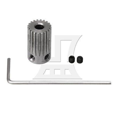 1.1x1.8cm 20T Stainless Steel 4mm Hole Motor Gear Wheel with 2 Screws Silver