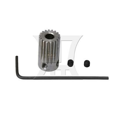 1x1.8cm 18T Stainless Steel Motor Gear Wheel 4mm Hole with Wrench & Screw Silver