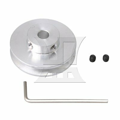 Metal Step V-shape Pulley 7mm Hole Dia for DIY Drilling Machine Silver