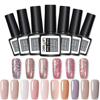 8ml LEMOOC Nagel Gellack Nail UV Gel Polish Soak off  Nail Art Nackt Gel UV