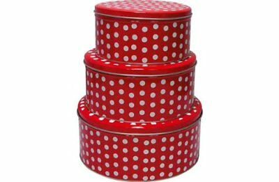 Brand New Set Of 3 Red Cake Tins