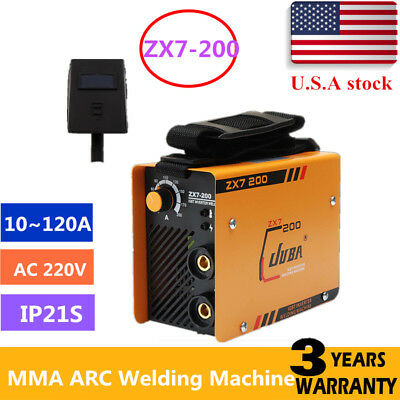 ZX7-200 Handheld IGBT Inverter MMA ARC Welding Mini Welder Machine 10~120A 220V