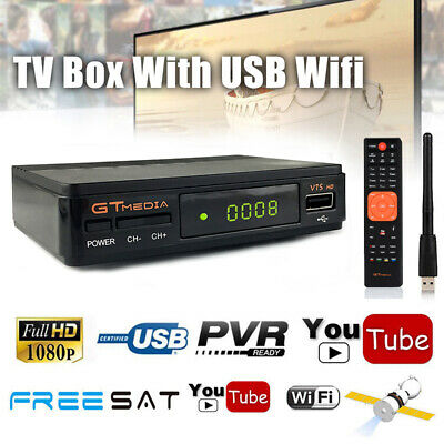 Full HD 1080P Freesat V7 DVB-S2 Digital Mini TV Box Receiver Support USB Wifi