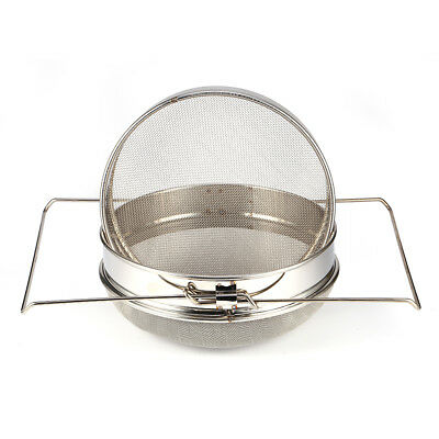 Stainless Steel Honey Beekeeping Strainer with Double Filter Equipment Tools