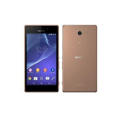 Sony XPERIA M2 Aqua in Copper Handy Dummy Attrappe - Requisit, Deko, Muster