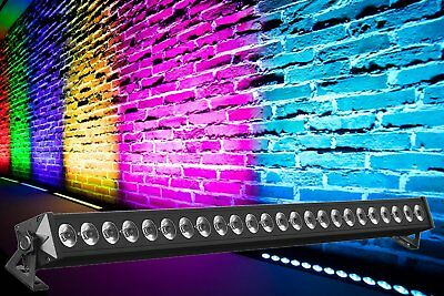 24x 3W RGB LED Bar Wall Washer 8 Sektionen DMX Stage Scheinwerfer Lichtleiste