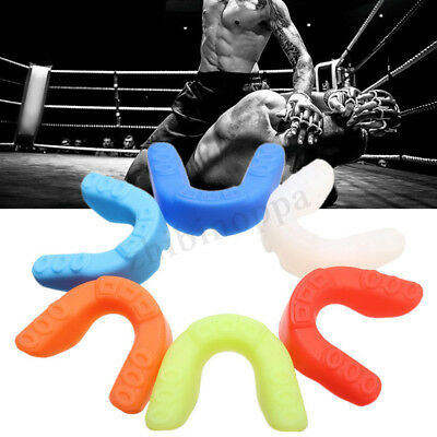 Mouth Guard Gum Shield Teeth Protector Boil Bit Boxing Karate Football Rugby WF9