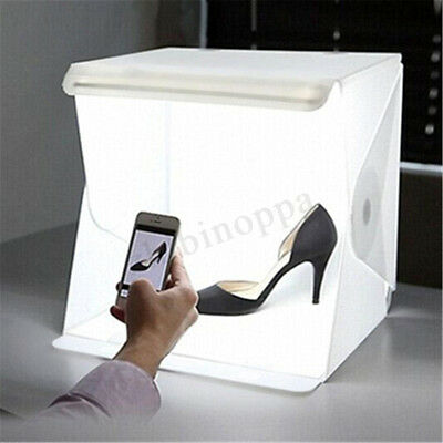 Photo Light Box Portable Small Shooting Tent White Cube Studio LED Kit Room Mini