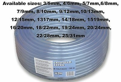 PVC Transparente Combustible Tubo para Gasolina,Diesel & Aceites 3mm 4mm 5mm 6mm