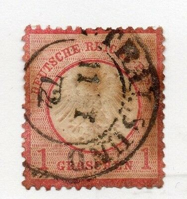 GERMANY 1872 Shield Type Issue Fine Used 1g. EARLY CANCEL 285781