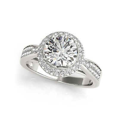 Certified 2.45Ct White Round Diamond Forever Engagement Ring In 14KT White Gold