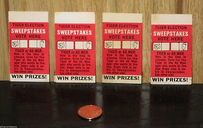 Vintage Enco Tiger Election Sweepstakes Ticket Stubs Humble Oil Gas Co Lot Of 4