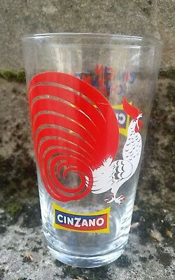 Bicchiere Miscelatore Cincin Gallo Cinzano Cocktail Ice Mixing Glass Vintage Bar