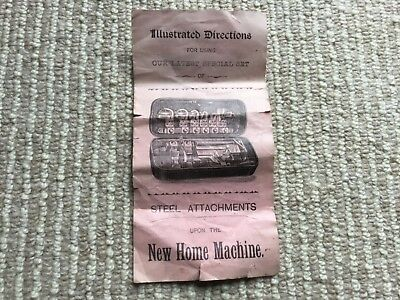 Antique New Home Sewing Machine Illustrated Directions Manual - Steel Attachment