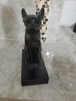 Bastet Ancient Egyptian Cat Goddess sculpture Museum Replica Reproduction