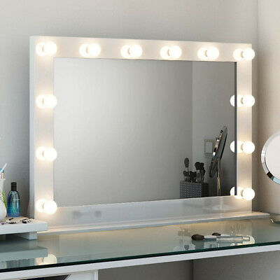 Hollywood Makeup Vanity LED Mirror w/ Light Bulb Artist Super Star Style US Plug