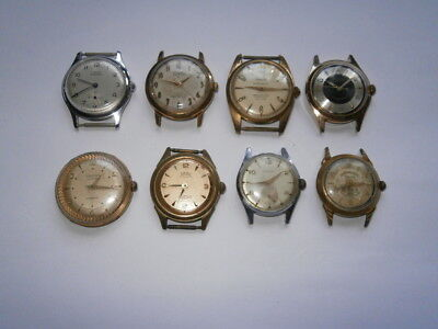 Job lot of vintage gents watches mechanical watches spares or repair