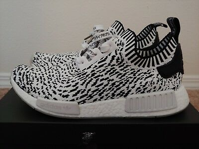 separation shoes 4a113 087db ADIDAS NMD R1 Primeknit White Sashiko custom laces Guaranteed Authentic  BZ0219