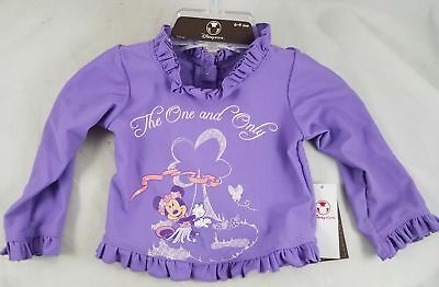 Neu Disney Store Baby Lila The One And Only Minnie Maus Top Hemd 6-9 Mo