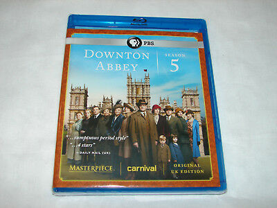 Downton Abbey Season 5 (Blu-ray Disc,2015,3-Disc Set)  **NEW FACTORY SEALED**
