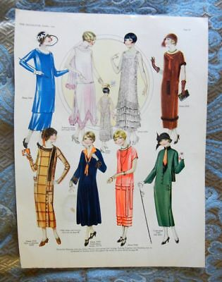 VTG 1924 Print AD - Butterick Patterns Flapper Evening Gowns Dresses Fashions