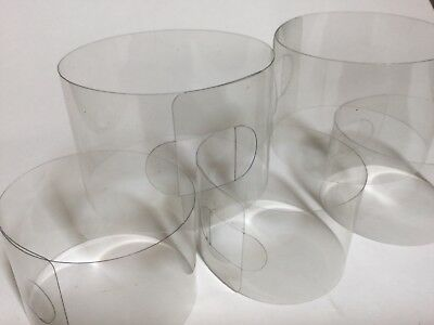 50 x Clear Self Standing Acetate Cake Collar Bands 52mm x 228mm = 72mm diameter
