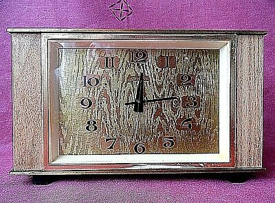 """Vintage Heavy Made in USSA Mechanical Table Clock """"Melody"""" 20 x 12 cm."""