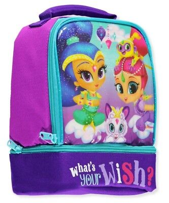 SHIMMER & SHINE NICKELODEON Girls PVC & Lead-Free Insulated Dual Lunch Tote Box