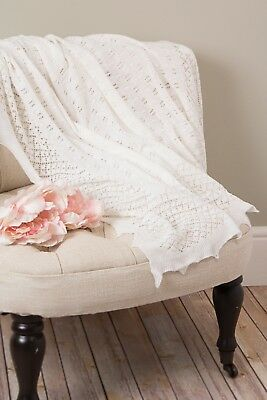 SARAH LOUISE Christening Shawl.  Style 00037 New With Tags-One Size - IVORY