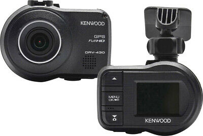 "Kenwood Dash Cam GPS Auto Full HD Display 2"" Sensore G a 3 assi DRV430"