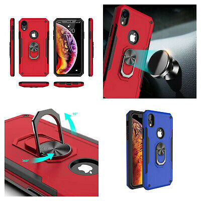 Magnetic Metal Bumper Tempered Glass Case Cover for iPhone XR XS Max 7/8 Plus