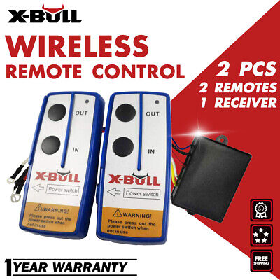 X-BULL 12V Wireless Winch Remote Control Kit Twin Handset Easy To Install 150FT