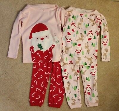 c747c291ad Carter s Just One You Christmas Santa Pajamas Girls 4 Piece Pjs Size 12  Months