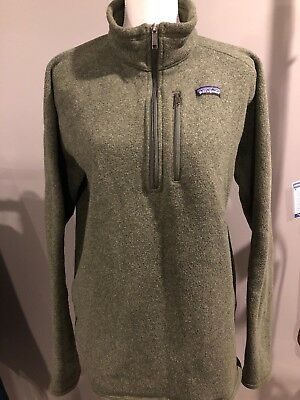 Patagonia Mens Better Sweater 14 Zip Fleece Green Mens Xl