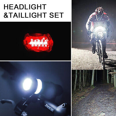 LED Bright Bike Front Headlight and Rear Tail Light Set Headlight &Taillight Set