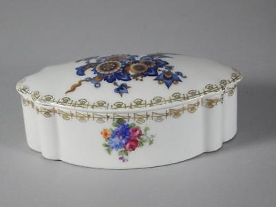 Prov Saxe Es Germany Covered Box - Floral Pattern