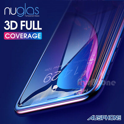 1x2xiPhone XS GENUINE NUGLAS 3D FULL Cover Tempered Glass Screen Protector Apple