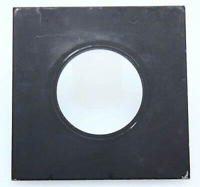 "4 x 4"" flat metal lens board 49.8mm opening 375078"