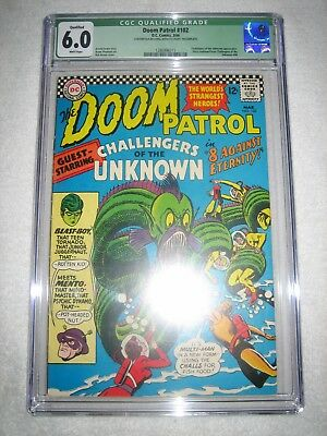 Doom Patrol # 102 Cgc 6.0 Wh - Challengers Of The Unknown Appear! New Tv Show!!!