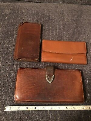 Vintage Junk Drawer Leather Wallets Leather Products Lot -