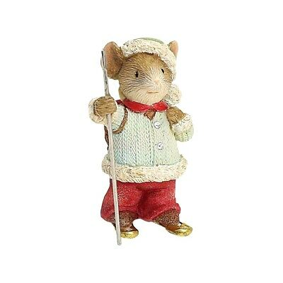 Snowshoe Scamper 6001388 Heart of Christmas mouse mice figurine Enesco  A