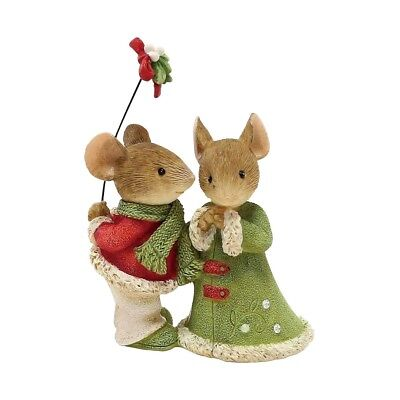 A Kiss from my Miss 6001386 Heart of Christmas mouse mice figurine Enesco  A