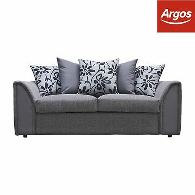 Argos Home Dallas Compact 3 Seater Sofa -Charcoal