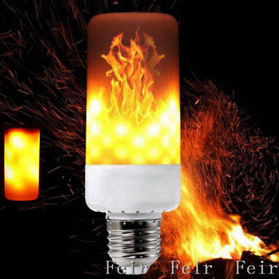 E27 LED Flicker Flame Light Bulb Simulated Burn Fire Effect Festival Party Decor