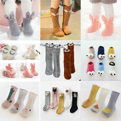 Anti-slip Newborn Baby Toddlers Floor Anklet Socks Boys Girls Knee High Stocking