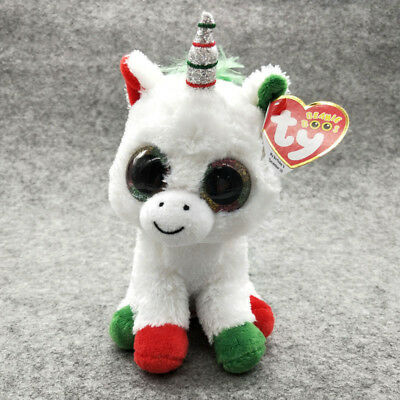 "CandyCane Ty Beanie Boos 6"" Stuffed Plush Soft Plush Doll Halloween Kid Toy Gift"