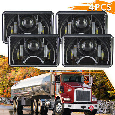 LED Headlights Hi/Lo Beam+ DRL For Kenworth T800 T600 W900B W900L Classic120/132